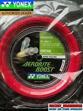 YONEX AEROBITE BOOST 200M COIL BADMINTON RACKET STRING GRAY / RED JAPAN