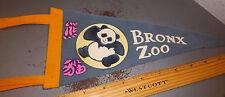 Bronx Zoo New York, vintage Felt Pennant, 12 x 5 inches, cute Panda!
