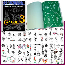 SET 3 BOOK 100 Reusable Airbrush Temporary Tattoo Stencil Art Designs Templates