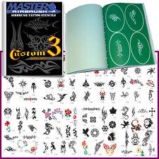 SET 3 BOOK 100 Reusable Airbrush Temporary Tattoo Stencil Art Designs Templates