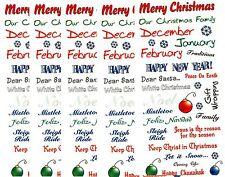 5 LARGE Sheets SEASON Winter XMAS Christmas New Year Word Scrapbook Stickers