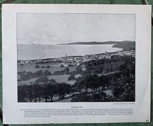 COLWYN BAY, SEASIDE RESORT NORTH SHORE OF WALES. ORIGINAL 1896 BOOK PRINT