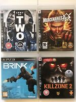 Army Of Two+Mercenaries 2+Brink+Killzone 2-Ps3 Game Bundle(427