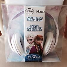 iHOME DISNEY FROZEN Elsa OVER THE EAR HEADPHONES BLUE/WHITE New