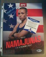 """Rose Namajunas """"Thug"""" - UFC  Promo Photo Signed - BAS COA Beckett (jsa, psa)"""