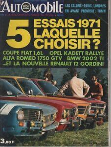 L'AUTOMOBILE 294 1970 R12 GORDINI GIULIA 1750 GTV TOUR AUTO FILM LE MANS McQUEEN