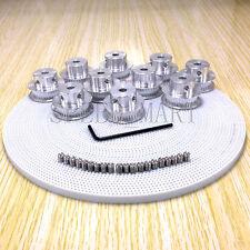 10 x GT2 Timing Pulley 36T 36 Teeth RepRap Prusa Mendel 3D Printer & 10m PU Belt