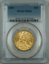 1899 Liberty $10 Eagle Gold Coin, PCGS MS-62