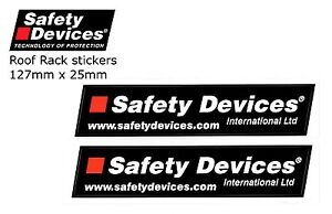 Safety Devices Roof Rack Stickers x 2 - GENUINE ARTICLE