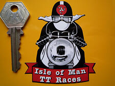ISLE OF MAN Classic TT Races Manx GP CAFE RACER Motorcycle Autocollant Sticker