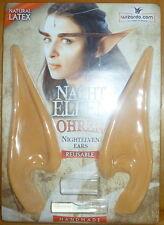 1 Paar Elfenohren aus Latex / Nacht-Elfe, Nachtelfen-Ohren, Nachtelfenohren, Elf