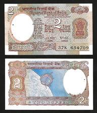 INDIA 2 RUPEE 1976 UNC P-79i  LETTER B , ,SIGN 85 R.N. MALHOTRA