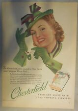 Chesterfield Cigarette Ad: The Chesterfield Glove ! Tabloid Page 1939