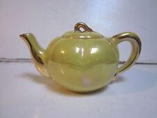 VINTAGE YELLOW GREEN LUSTERWARE TOMATO SHAPED TEA POT