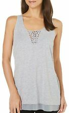 NWT $48 Nanette Lepore Women's Braided Heather Grey Tank Top Size Small