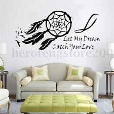 Wall Sticker Dream Catcher Feather Black Decal Art Home Decor Mural DIY Decor
