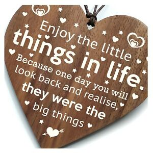 Enjoy The Little Things In Life - Best Friends Wooden Plaque Gift Inspirational