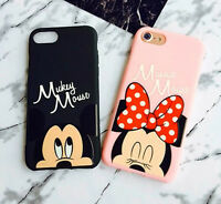 Cute Disney Minnie Mickey Mouse Soft case cover Pouch for Apple iPhone 7 / Plus