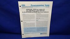 HP 8566B/8568B/MODELS 216/226/236-90 PROGRAMMING NOTE OSCTOBER 1984
