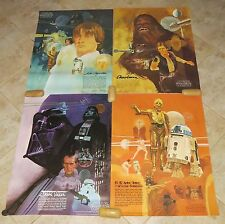 Original STAR WARS BURGER KING COCA-COLA Posters (1977) SET OF 4 - MINT!