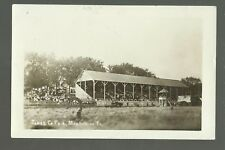 Monticello IOWA RP 1911 COUNTY FAIR Fairgrounds GRANDSTAND Crowd nr Anamosa