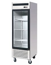 ChefsFirst Glass 1 Door Upright Reach-In Commercial Refrigerator
