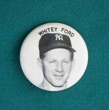 Great 1960s New York Yankees WHITEY FORD Pin Back Button, Minty!