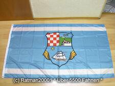 Fahnen Flagge Kroatien Gespanschaft Primorje Gorski kotar Digitaldruck -90x150cm