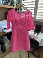 Lilly Pulitzer Pink Lace Dress Size 00 NWT. Free Shipping