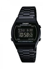Casio Herrenuhr Uhr Unisex Retro Schwarz Edelstahl-Armband Digital B640WB-1BEF