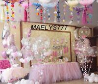 Ballon géant confettis pétales de rose mariage fêtes couleur au choix* 91cm*