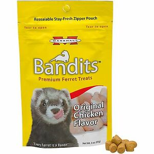 Marshall Pet Bandits Ferret Treat, Chicken, 3oz
