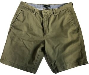 New Banana Republic Mens Casual Khaki Plaid Chino Shorts 3 Colors Sizes 29-38