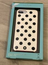 Kate Spade Le Pavillion iPhone Case Black White Polka Dot 6s Plus 7 Plus 8 Plus