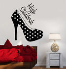Vinyl Wall Decal Women's High Heel Shoes Girl Room Fashion Stickers (ig3646)