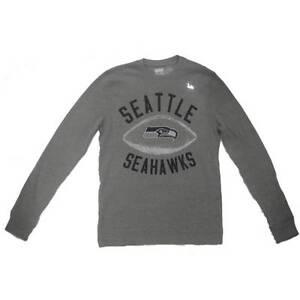 New Men's NFL Seattle Seahawks Waffle 'Junk Food' Shirt  Gray Small-XL Football