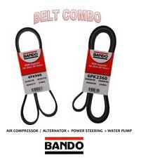 BANDO OEM Serpentine Belt 2 Pcs Fit CADILLAC,CHEVROLET, GMC V8 6.0L Alt 130 Amp