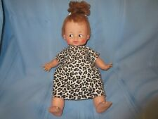 "vintage Flintstones Pebbles doll Hanna Barbera Ideal Baby Pebbles 15"" w/ outfit"