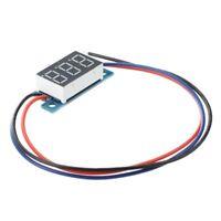 LED Mini Digital Voltmeter Spannungsanzeige Panelmeter DC 3-200V R1W1) OE