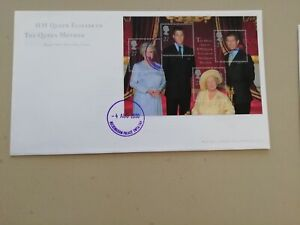 HM Queen Elizabeth The Queen Mother Firstday cover Buckingham palace cds