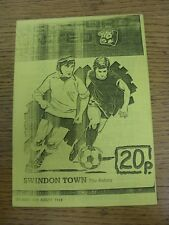 06/08/1988 FINALE COPPA Herefordshire Senior: HEREFORD United V Swindon Town (4 PA