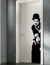 VINILO DECORATIVO PARED SALÓN  HABITACIÓN CASA DECORACION-CHAPLIN DOOR-