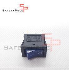 Interruptor ON OFF con luz 220v AZUL rectangular cuadrado SPST 6A 220v SP