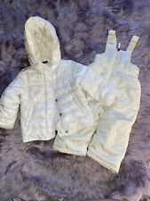 Snow Outfit Gap Puffer Jacket And Bibs