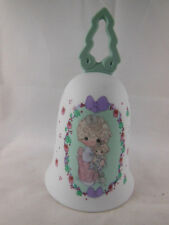 Vtg 1992 Precious Moments Bell Love is the Best Gift Christmas Child w Dolly