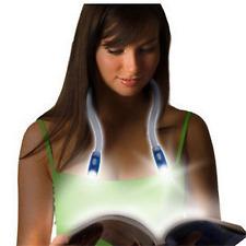 Flexible Hands-Free Bright LED Neck Light for Reading - UK Stock