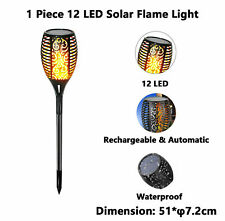 LED Solar Tiki Torch with Flickering Flame Solar Torch Light Outdoor Waterproof