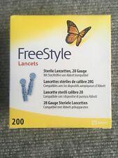 FreeStyle Lanzetten Stechhilfen   200 Stück   NEU   OVP   Verfalldatum : 03/2025