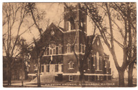 Vintage Postcard 1914 Messiah Church Lindsborg Kansas  J-18