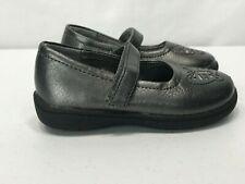 Cherokee Girls Dark Gray Butterfly Slip On Sandals Size 6